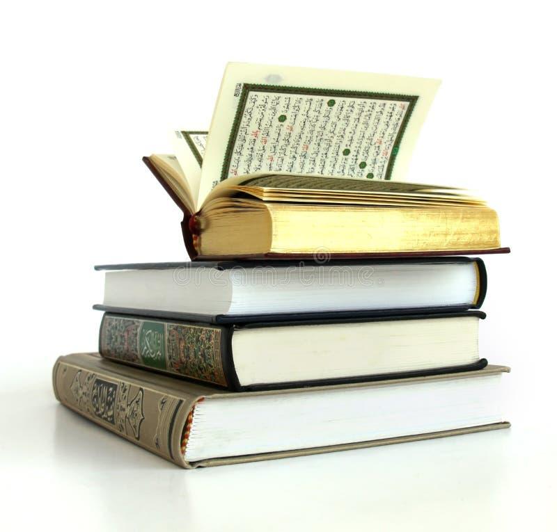 Conjunto de Qurans fotografía de archivo libre de regalías