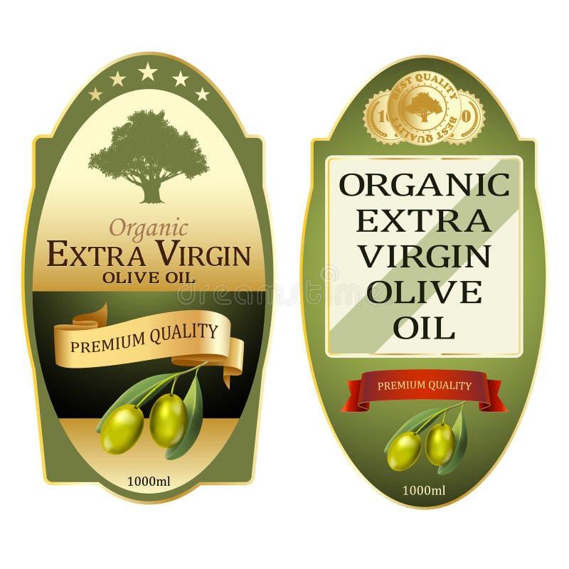Conjunto de rótulos de azeite Design de banners premium elegantes ilustração do vetor
