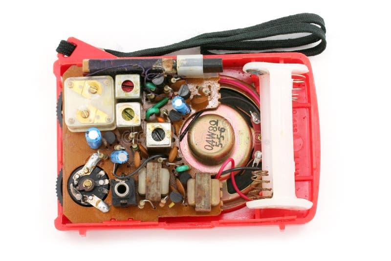 Conjunto de radio del transistor imágenes de archivo libres de regalías