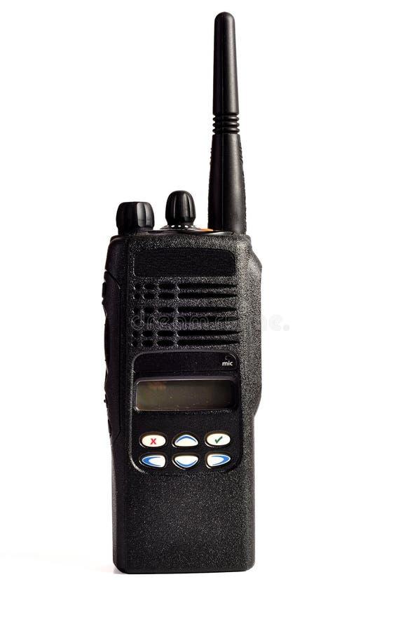 Conjunto de radio portable profesional compacto negro. fotografía de archivo