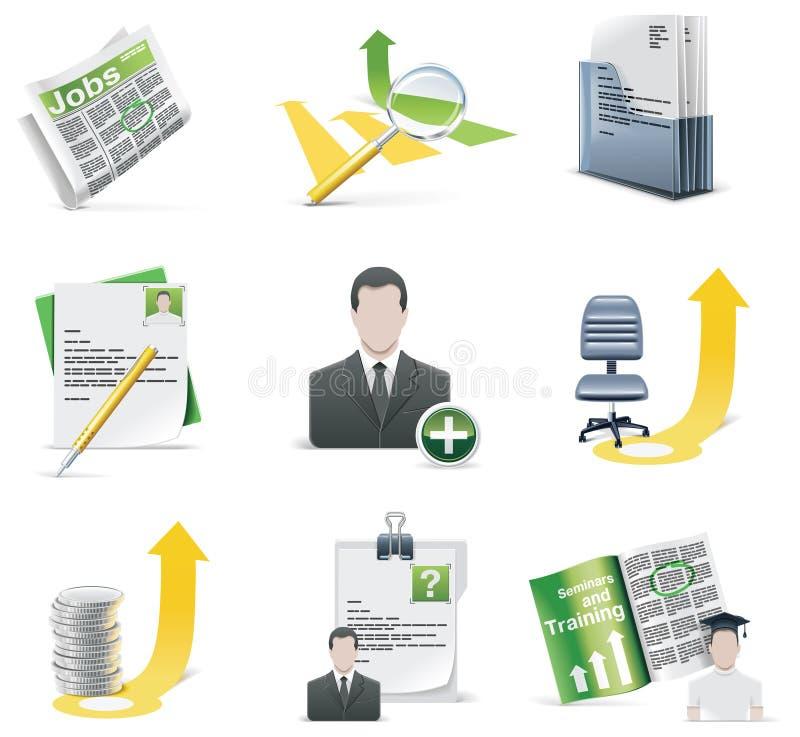Conjunto de reclutamiento del icono del vector stock de ilustración