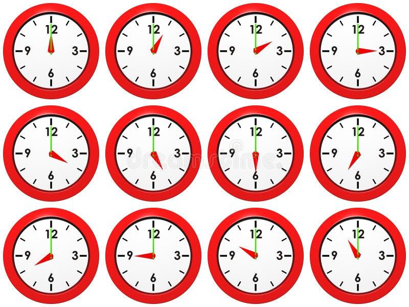 Conjunto de relojes fotografía de archivo libre de regalías