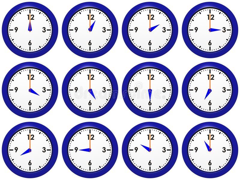 Conjunto de relojes foto de archivo