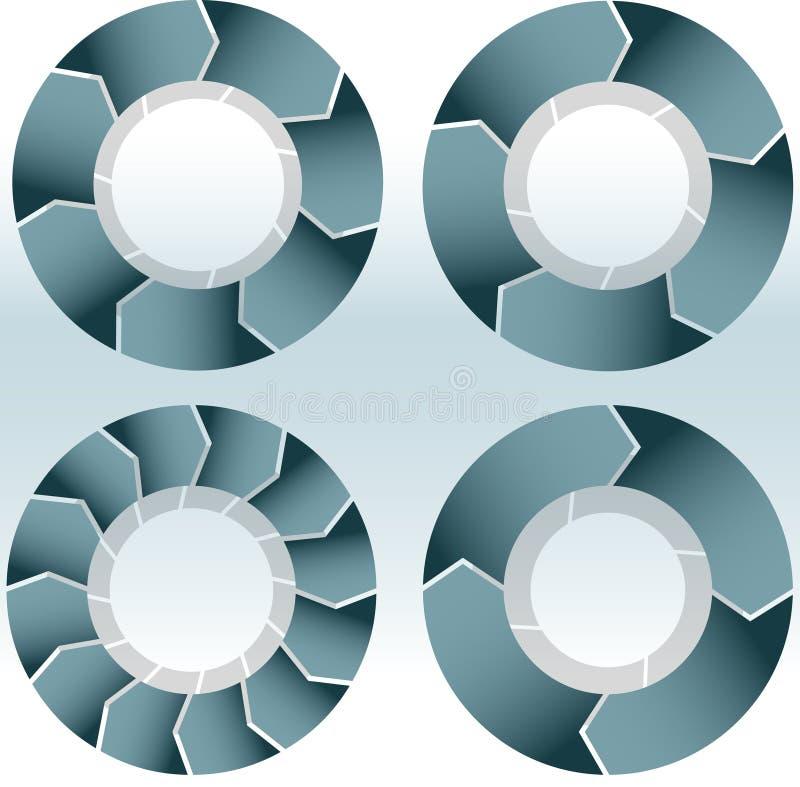 Conjunto de rueda en blanco stock de ilustración