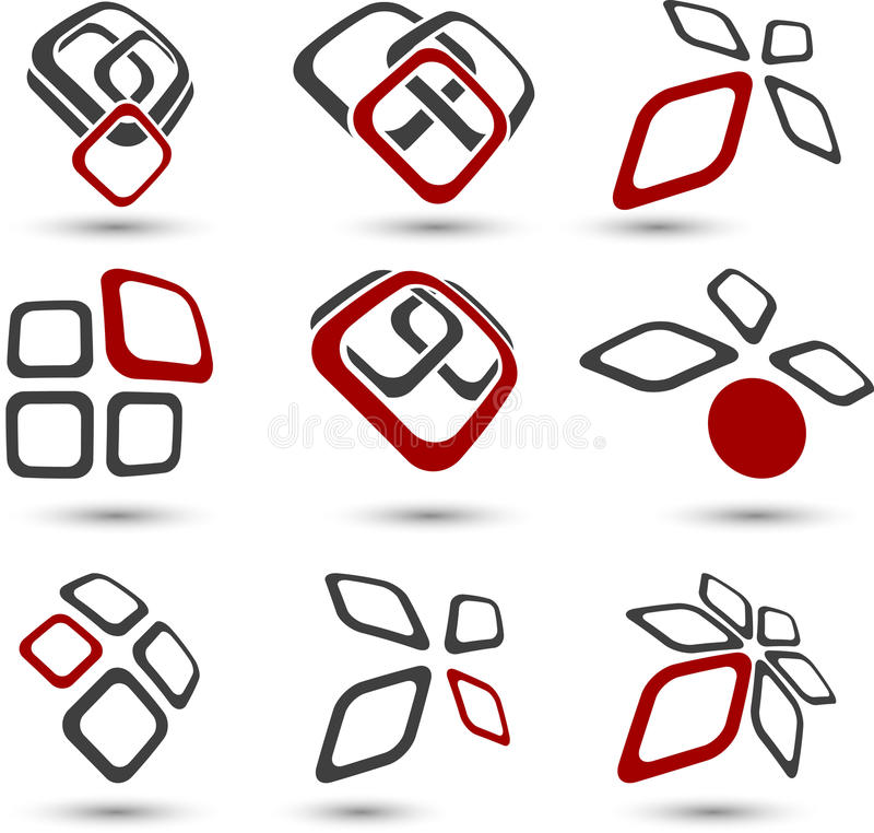 Conjunto de símbolos de la compañía. stock de ilustración