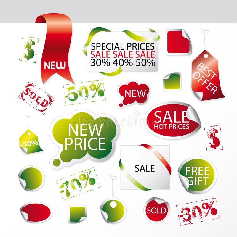 Conjunto de símbolos editable fáciles del mercado ilustración del vector