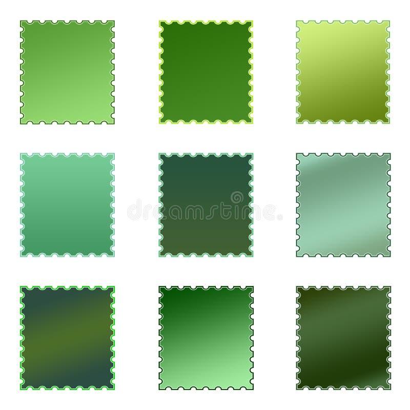 Conjunto de sellos coloreados aislados libre illustration