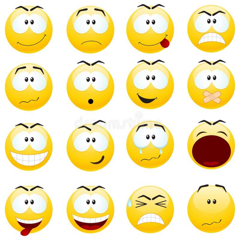 Conjunto de sonrisas. stock de ilustración