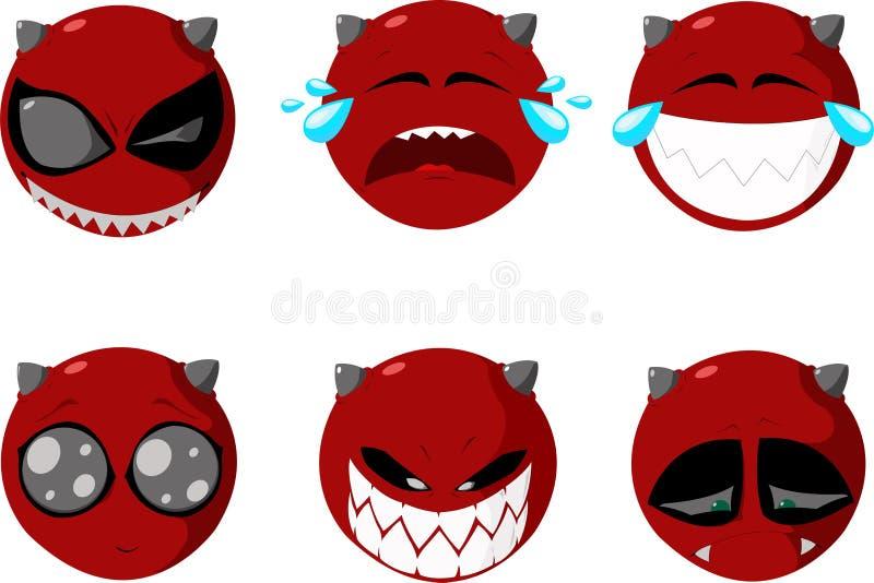 Conjunto de sonrisas ilustración del vector
