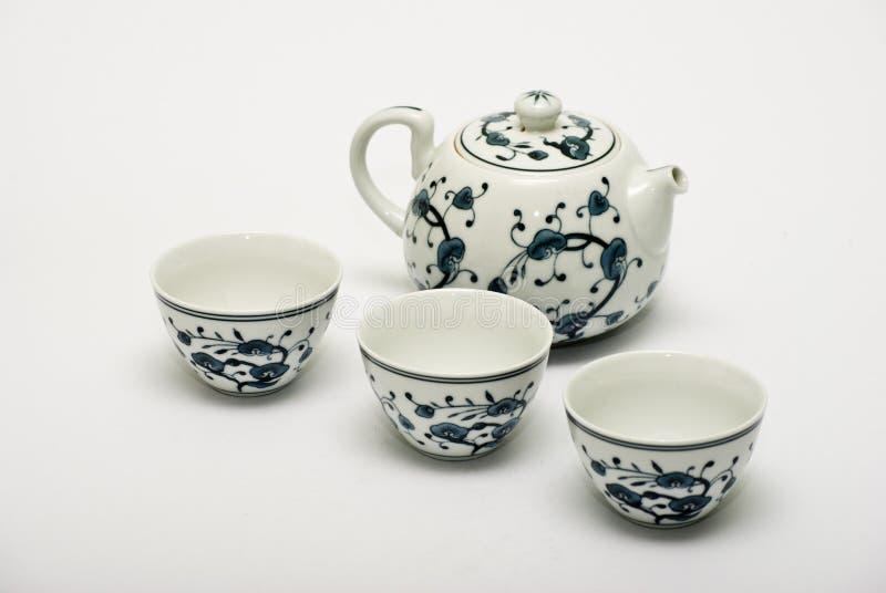 Conjunto de té chino de la porcelana imagen de archivo libre de regalías