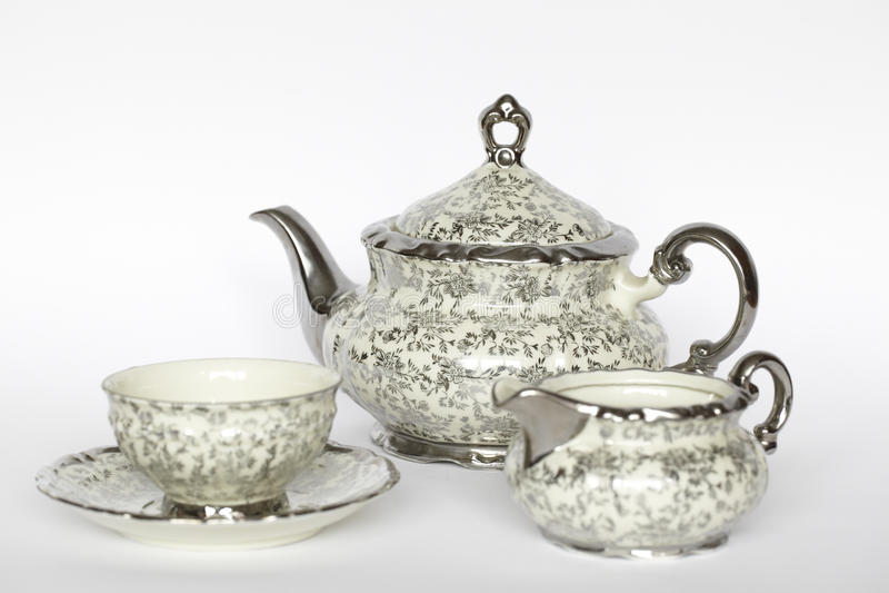 Conjunto de té de la porcelana foto de archivo libre de regalías