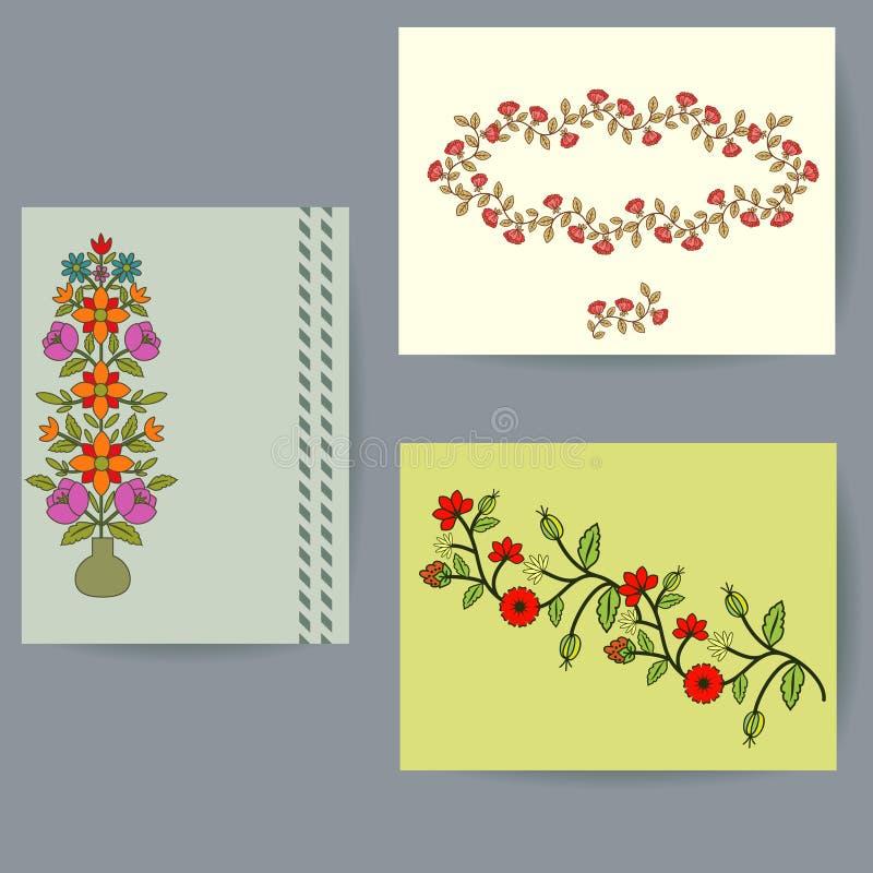 Conjunto de tarjetas ilustración del vector