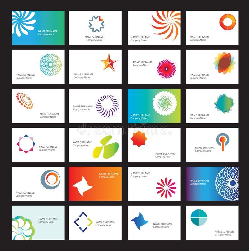Conjunto de tarjetas de visita stock de ilustración