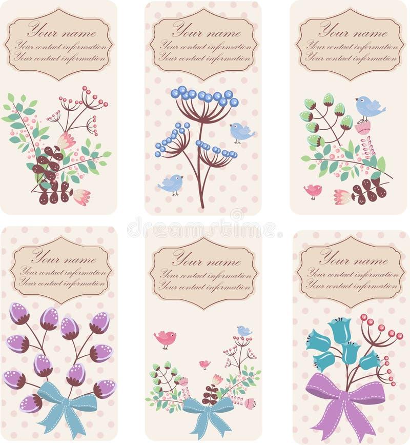 Conjunto de tarjetas de visita libre illustration