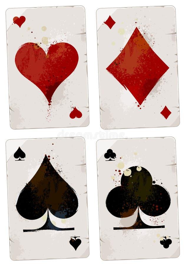 Conjunto de tarjetas del póker stock de ilustración