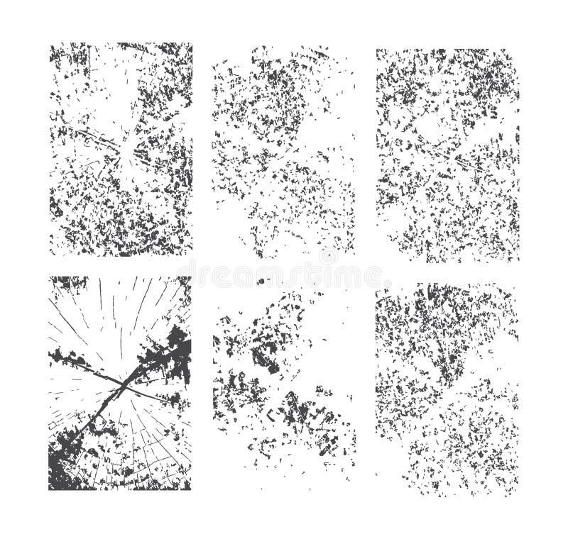 Conjunto de texturas del grunge Modelo abstracto del vector imagen de archivo libre de regalías