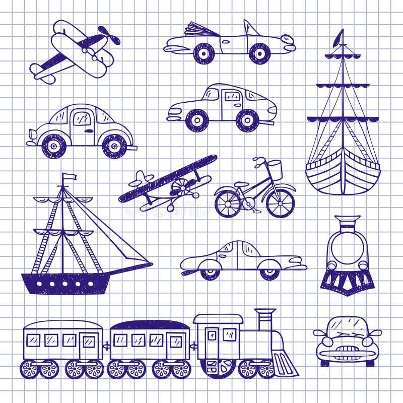 Conjunto de transporte de la vendimia libre illustration