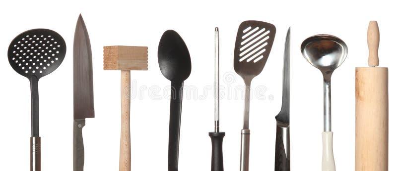 Conjunto de utensilios de cocina imagen de archivo libre de regalías