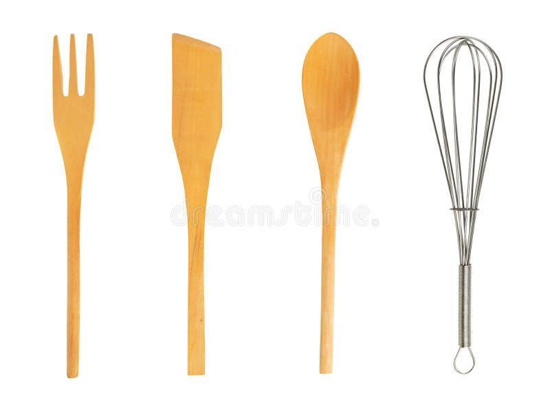 Conjunto de utensilios de cocina imagenes de archivo