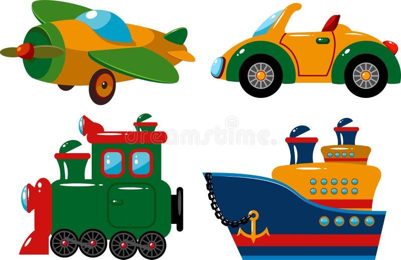 Conjunto de vehículos libre illustration