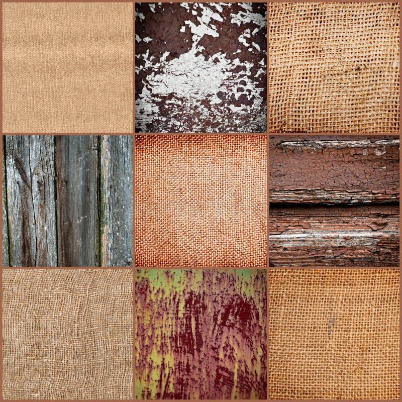 Conjunto de viejas texturas fotos de archivo