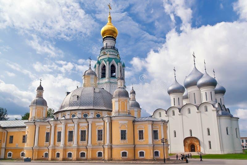 Conjunto de Vologda kremlin imágenes de archivo libres de regalías