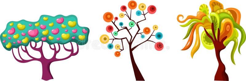 Conjunto del árbol ilustración del vector