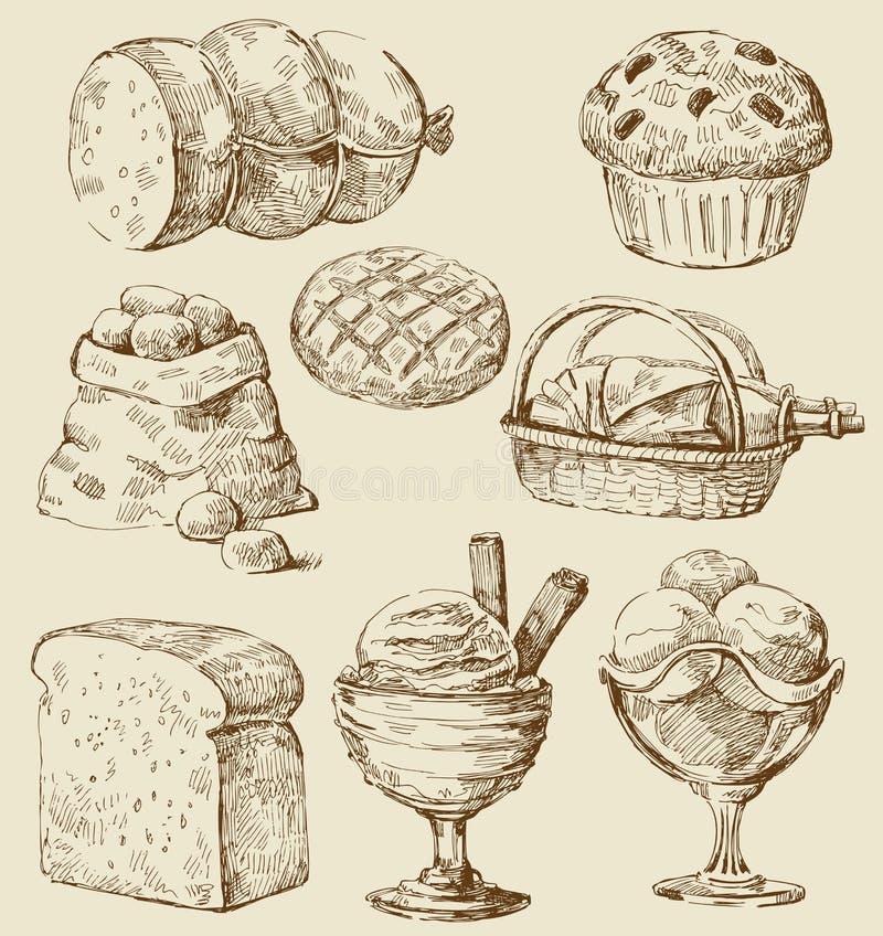 Conjunto del alimento libre illustration