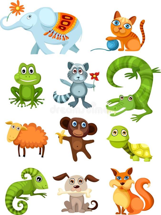 Conjunto del animal ilustración del vector