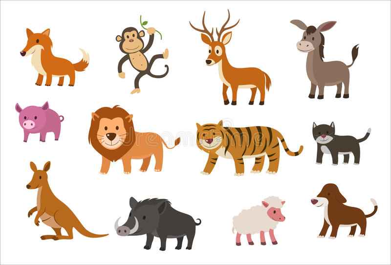 Conjunto del animal libre illustration