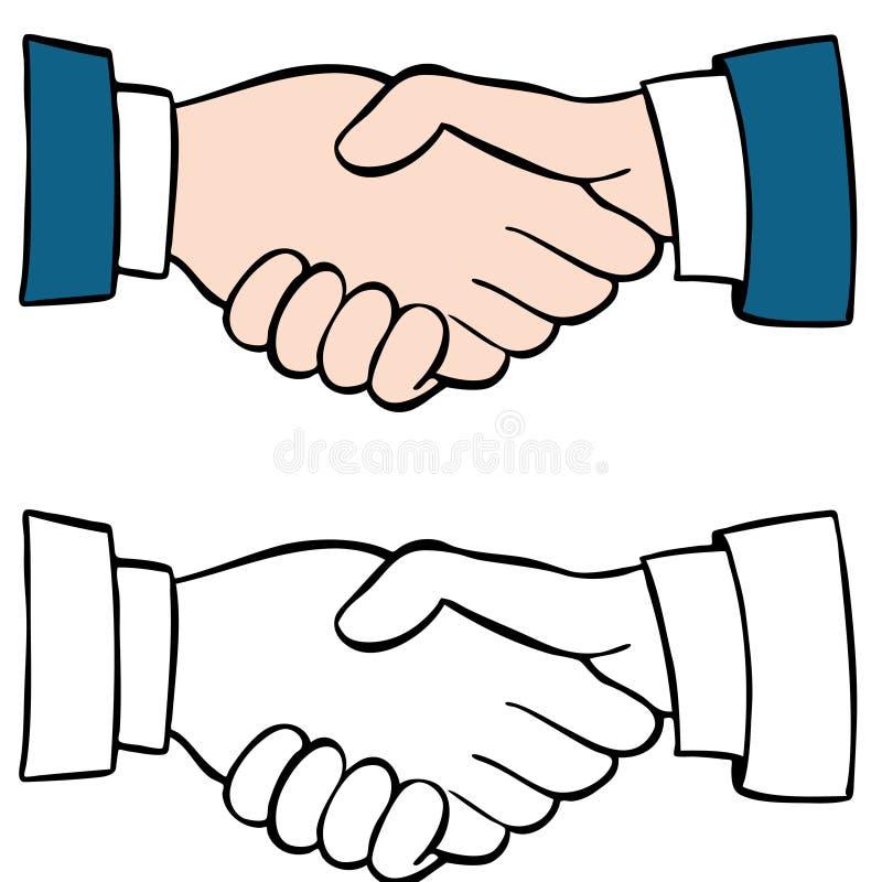 Conjunto del apretón de manos ilustración del vector