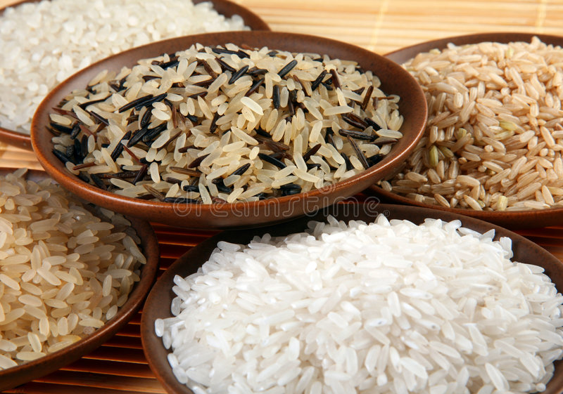 Conjunto del arroz fotografía de archivo libre de regalías