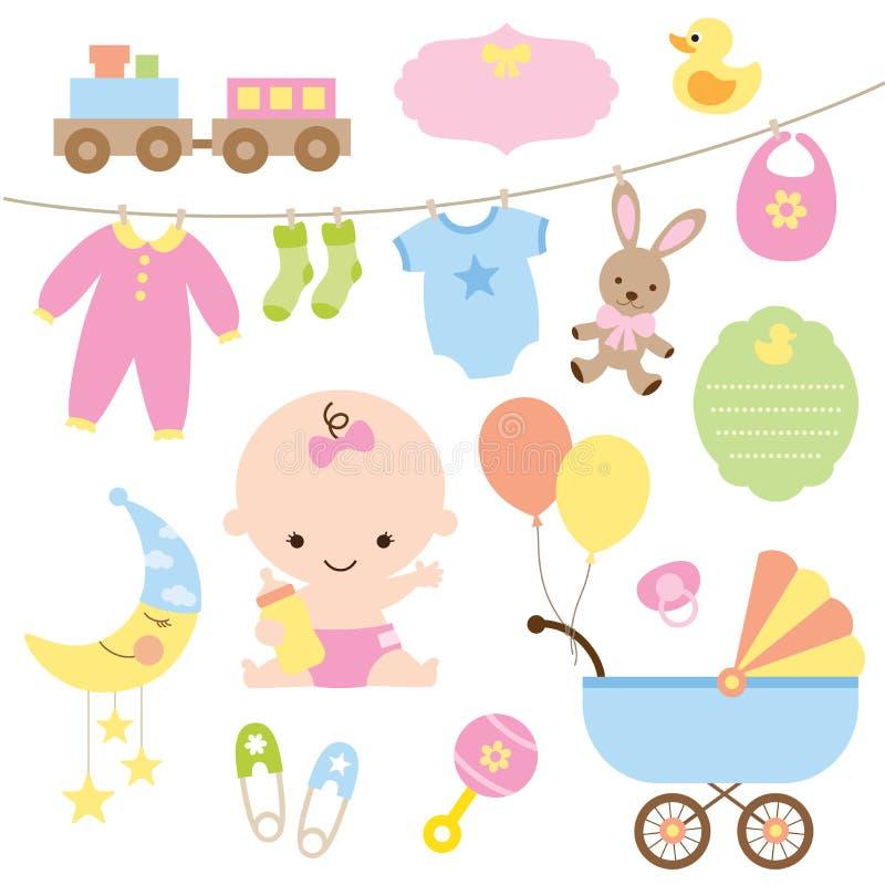 Conjunto del beb stock de ilustración