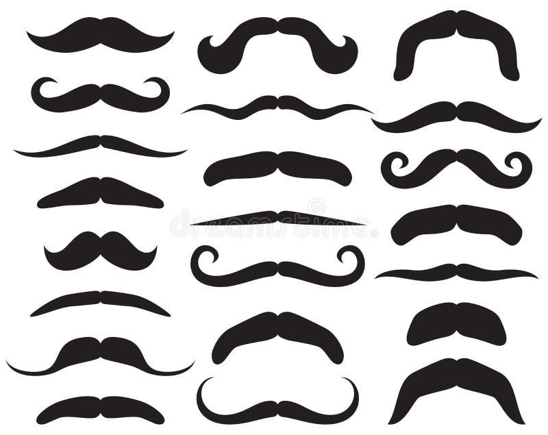 Conjunto del bigote ilustración del vector