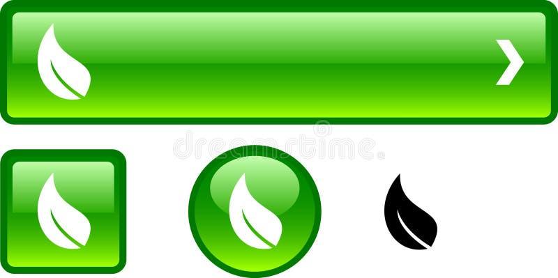 Conjunto del botón de la ecología. libre illustration