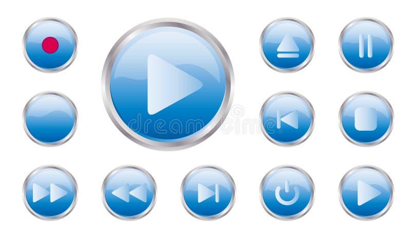 Conjunto del botón del control de vector imágenes de archivo libres de regalías
