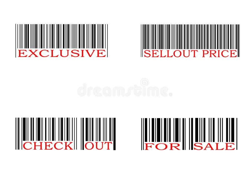 Conjunto del código de barras ilustración del vector