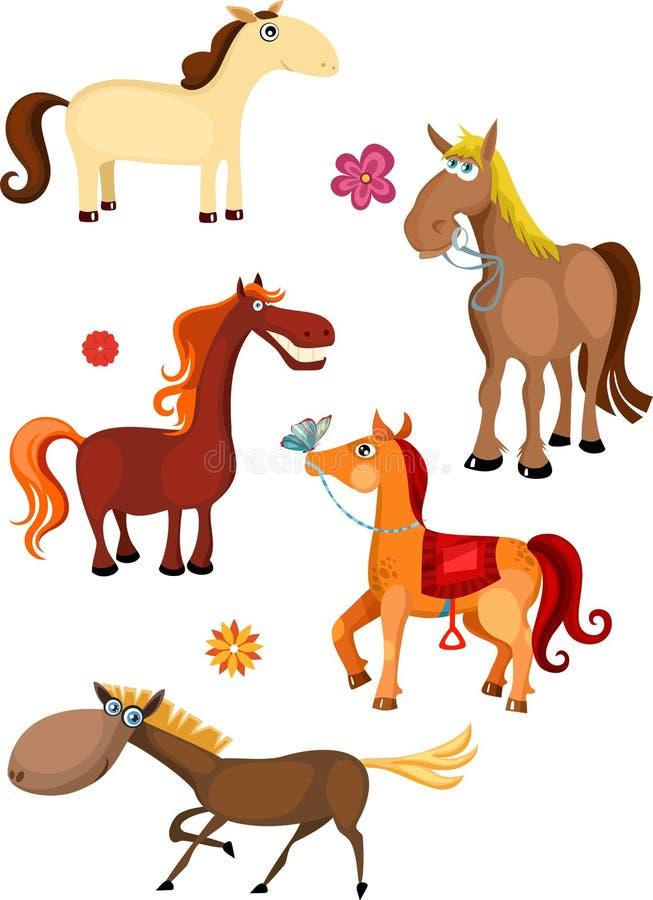 Conjunto del caballo stock de ilustración