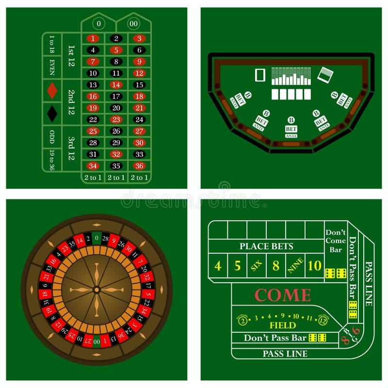 Conjunto del casino ilustración del vector