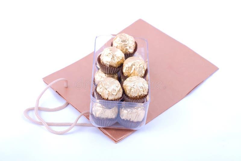 Download Conjunto Del Chocolate Con El Bolso De Compras Foto de archivo - Imagen de gastrónomo, gordo: 7280536