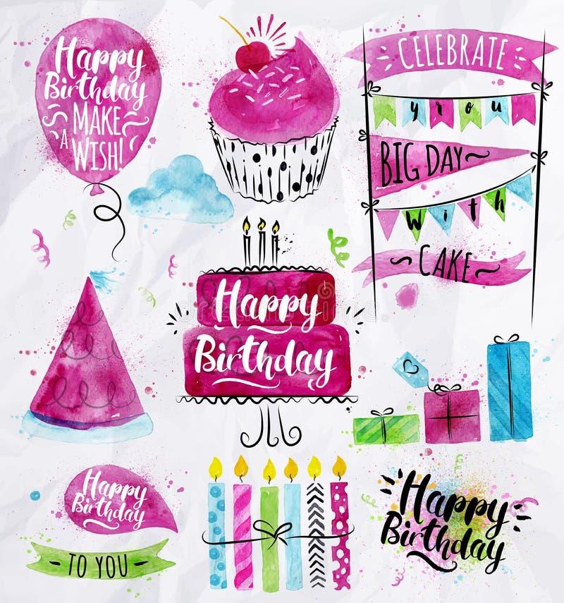 Conjunto del cumpleaños libre illustration