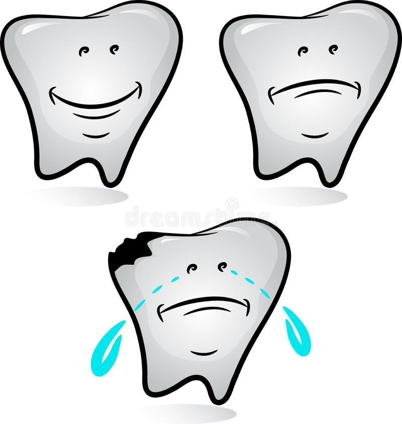 Conjunto del diente libre illustration
