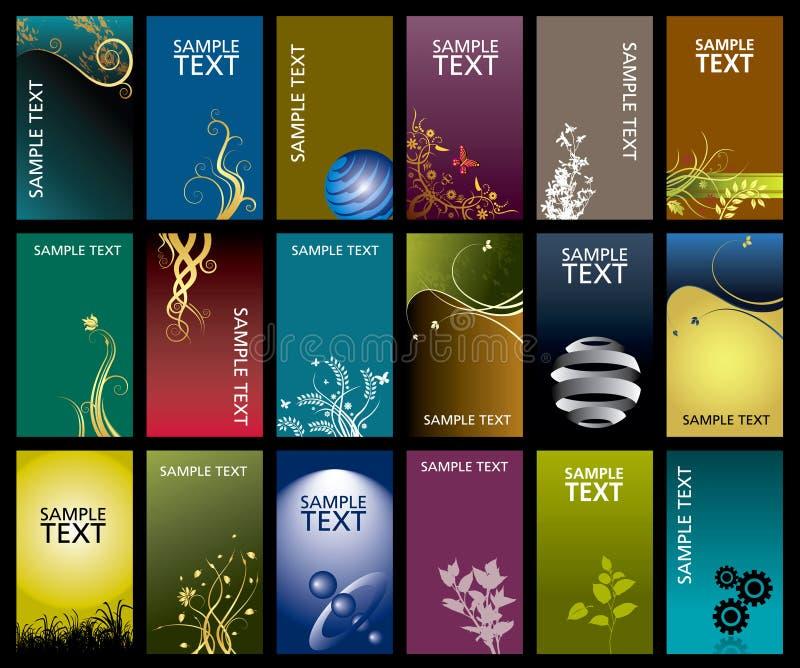 Conjunto del diseño de la tarjeta de visita foto de archivo libre de regalías