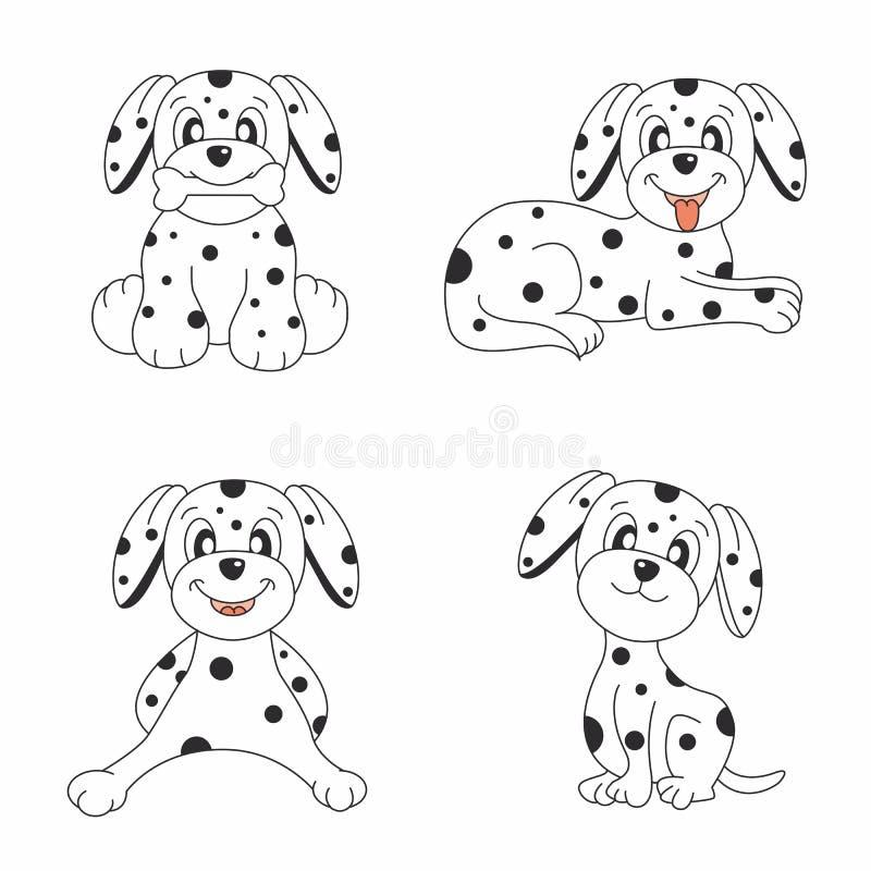 Conjunto del diseño del perro libre illustration
