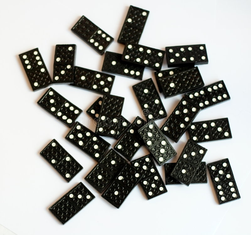 Conjunto del dominó imagen de archivo