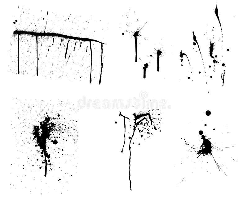 Conjunto del fondo del vector de Grunge libre illustration
