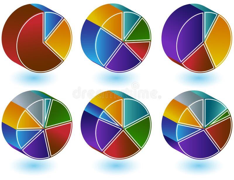Conjunto del gráfico de sectores libre illustration