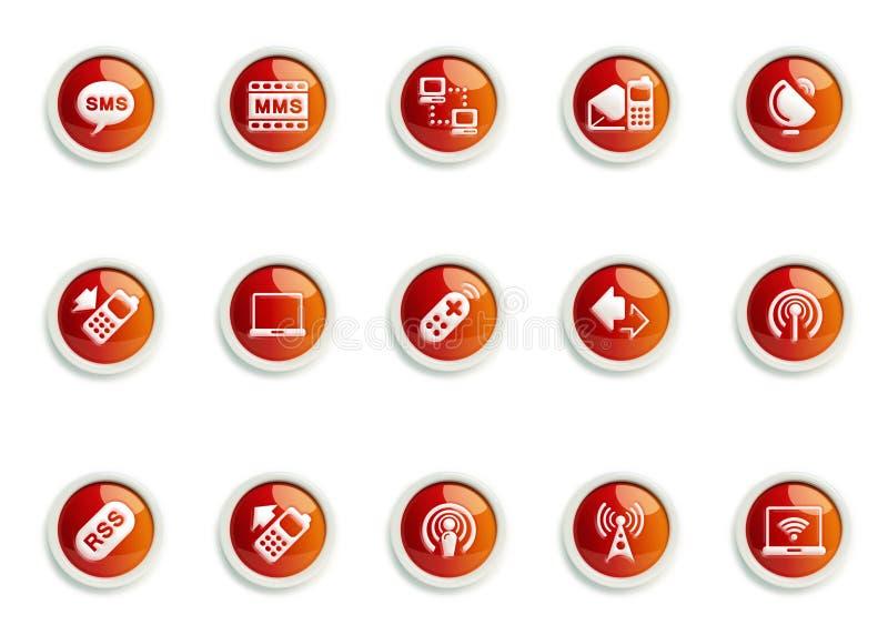 Conjunto del icono stock de ilustración