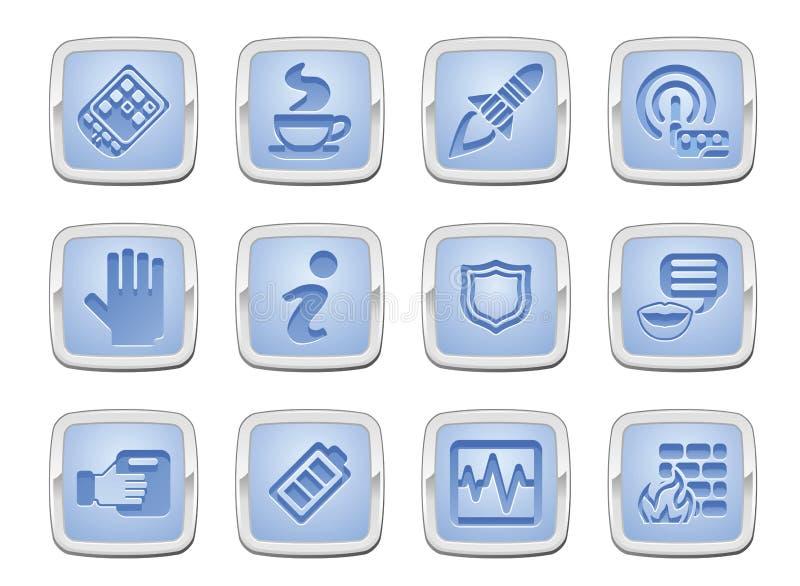 Conjunto del icono de la aplicación ilustración del vector