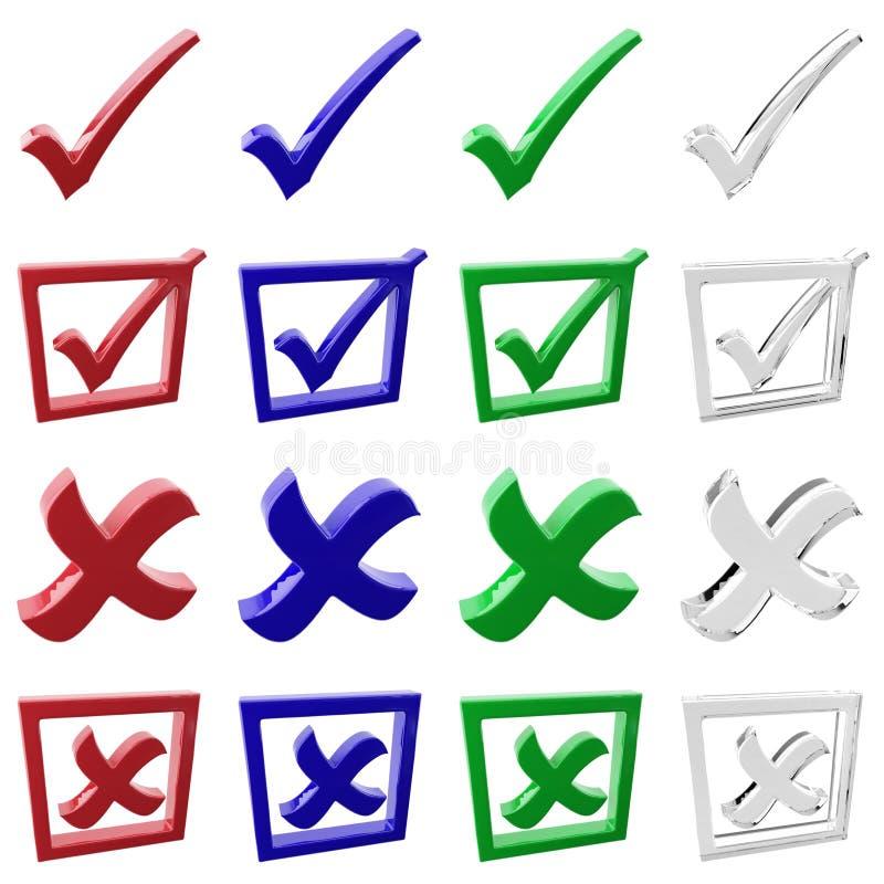 Conjunto del icono de la elección ilustración del vector
